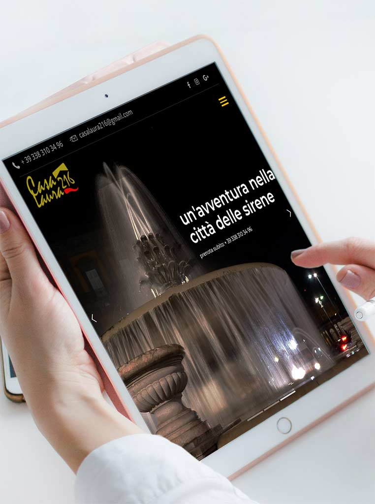 Casa Laura 216 Realizzazione sito web per casa vacanze a Napoli